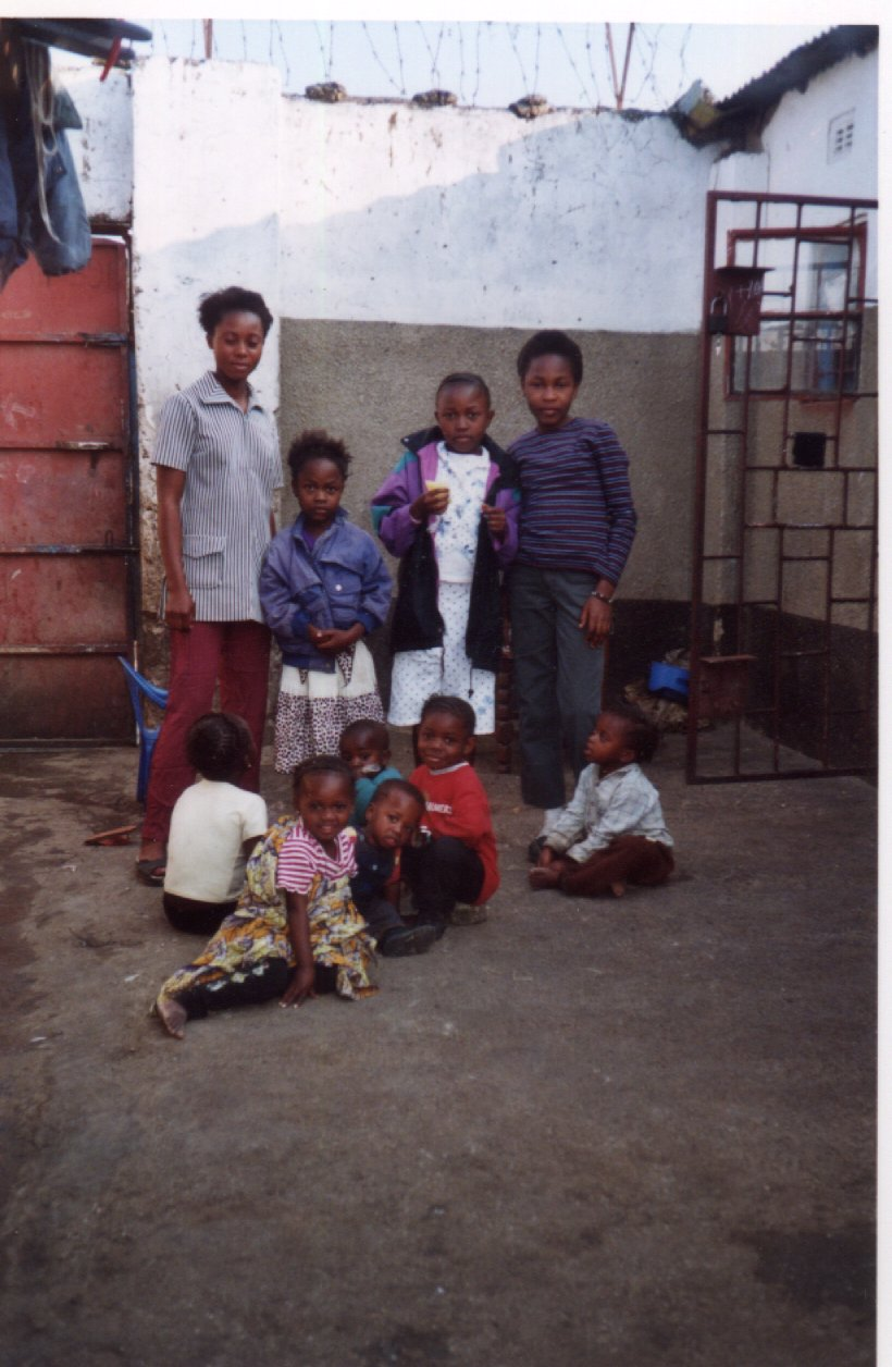 Orphaned girls at the Centre.